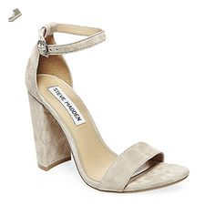 Steve Madden Women's Carrson Dress Sandal, Taupe Suede, 8.5 M US - Steve madden pumps for women (*Amazon Partner-Link)