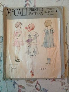 4 Vintage McCalls Patterns Youth Childrens Dated 1920S   eBay