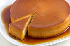 This Cream Cheese Quesillo (flan) is gives a new twist to an old time classic! Flan Au Caramel, Creme Caramel, Portuguese Desserts, Portuguese Recipes, Portuguese Food, Mexican Food Recipes, Sweet Recipes, Dessert Recipes, Vegan Flan