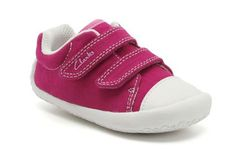 Girls Canvas Shoes in Hot Pink Fabric - Kirsty from Clarks shoes Toddler Girl Shoes, Baby Girl Shoes, Girls Shoes, Beautiful Baby Girl, Pink Fabric, Cool Baby Stuff, Clarks, Hot Pink, Girl Outfits