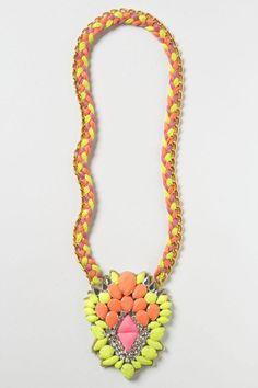 Zowie Acorn Necklace Long Fashion Statement Gemstone By Ranna Gill Anthropologie #Anthropologie #Pendant