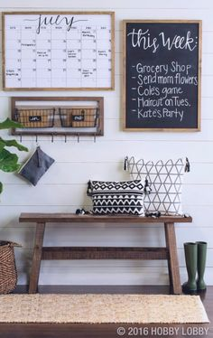 Get your family schedule organized with these family command center ideas - DIY organization station to declutter your life!
