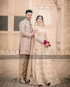 Dubai Wedding Dress, Couple Wedding Dress, Pakistani Wedding Outfits, Pakistani Wedding Dresses, Bridal Outfits, Wedding Attire, Indian Dresses, Dulhan Dress, Walima Dress