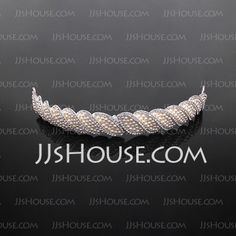 Headpieces - $29.99 - Tiaras Wedding Special Occasion Casual Rhinestone Silver Headpieces With White (042017916) http://jjshouse.com/Tiaras-Wedding-Special-Occasion-Casual-Rhinestone-Silver-Headpieces-With-White-042017916-g17916
