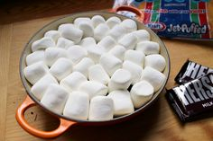 marshmallow layer for smores dip