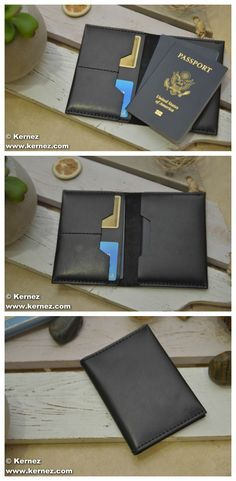This handmade travel wallet is ideal for the man or woman who's constantly on the move. Featuring two easy-access slots for credit cards, this original design can hold two passports comfortably. Frequent flyers know the importance of having travel documents readily available, but most standard wallets can't accommodate the size of a passport.