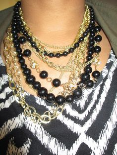 Singaturestyle wearing our layered statement necklace.