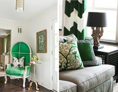 #emerald accents  #chevron