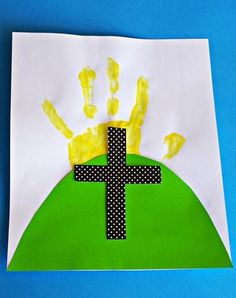Easter Cross Handprint Art- awesome Sunday School craft for Easter!