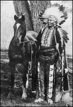1904 Ute Indian and Horse--Frank Balster