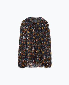 Image 8 of PRINTED SHIRT WITH QUILTED BIB FRONT from Zara