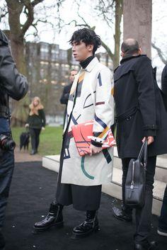 London Men's Fashion Week street style [Photo by Kuba Dabrowski]