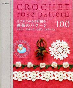 Revista Acabamentos em flores de crochet
