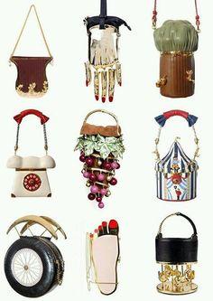 So cool - Ines Figaredo´s Bags. Novelty Handbags, Novelty Bags, Vintage Handbags, Purses And Handbags, Unique Purses, Unique Bags, Cute Purses, It Bag, Fashion Bags