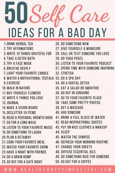 self care tips / self care . self care quotes . self care routine . self care products . self care aesthetic . self care tips . self care checklist . self care bullet journal Vie Motivation, Fitness Motivation, Fitness Plan, Self Care Activities, Mental Health Activities, Wellness Activities, Self Improvement Tips, Bad Day, Self Care Routine