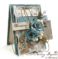 Such a lovely shabby chic greeting card! Wonderful layers and colorcombination! Paper Cards, Diy Cards, Mixed Media Cards, Shabby Chic Cards, Handmade Tags, Beautiful Handmade Cards, Heartfelt Creations, Card Tags, Greeting Card