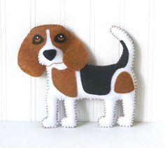 Beagle Sewing Pattern Dog Hand Sewing Pattern Felt Beagle