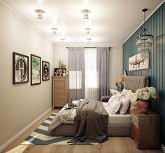 Дизайн интерьера трехкомнатной Москва. Спальня