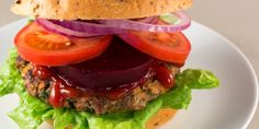 The classic beef burger made healthy