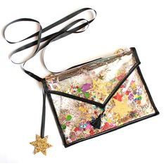 Small Rainbow Sequin Confetti and Glitter Clutch by LunaontheMoon