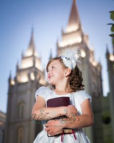 its great to be salt lake lds temple, lds baptism, Holly's Hobby's Photography - I love that she's holding a triple instead of just the BOM
