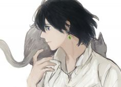 Tags: Anime, Howl's Moving Castle, Soft Colors, Howl, Petting, Pixiv Id 730279