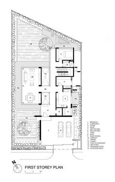 Image 21 of 22 from gallery of Travertine Dream House / Wallflower Architecture + Design. first floor plan The Plan, How To Plan, Autocad, Attic Renovation, Attic Remodel, Casa Top, Architecture Design, Villa Plan, D House