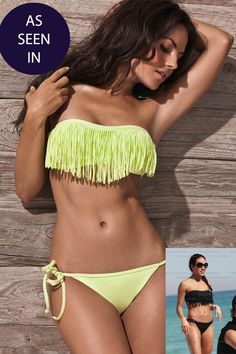 the fringe is decorative because it can be removed and still be a swim suit.