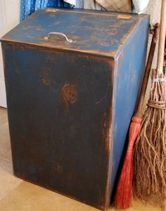 Cupboard Cover Box for trash can/Garbage Bin. Sold on Etsy at... http://www.etsy.com/listing/41721106/primitive-garbage-can-trash-bin-cupboard