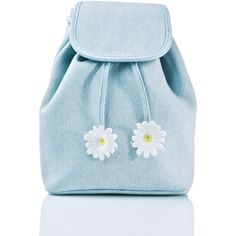 Sugarbaby Denim Daisy Backpack (2.175 RUB) ❤ liked on Polyvore featuring bags, backpacks, strap backpack, blue denim backpack, blue drawstring bags, denim backpack and denim rucksack