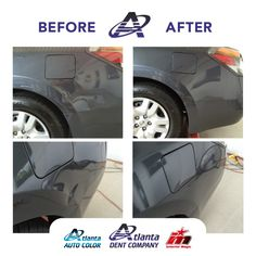 Our experienced technicians, specialized technique, and unique tools remove the #dent without repainting the car. This saves you money and time! We work on all makes and models #PDR #Atlanta.
