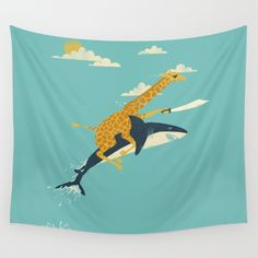 So... this is awesome.   Buy Onward! Wall Tapestry by Jay Fleck. Worldwide shipping available at Society6.com.