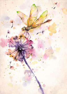 Premium-Poster Libelle und Löwenzahn Sillier Than Sally – dragonfly and dandelion Dragonfly Drawing, Dragonfly Painting, Dragonfly Art, Watercolor Dragonfly Tattoo, Dragonfly Tatoos, Galerie Saatchi En Ligne, Watercolor Animals, Watercolor Paintings, Watercolor Artists
