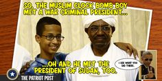 Obama Greets Clock Bomb Kid at White House - This little terrorist got to meet the POTUS face-to-face Typical....