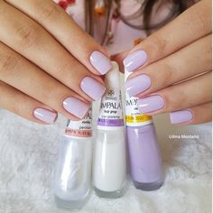 Unhas delicadas, unhas inglesinhas, cabelo e unhas, unhas claras, unhas decoradas delicadas Nails Polish, Toe Nails, Nail Ring, Manicure And Pedicure, Gorgeous Nails, Pretty Nails, Uñas Diy, Vacation Nails, Nails 2018