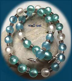 """Ketten kurz - Kette, Polaris,glänzende Perlen """"LINA"""" - ein Designerstück von woll-net bei DaWanda"""