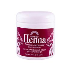 Rainbow Research Henna Hair Color and Conditioner Persian Burgundy Dark Auburn - 4 oz