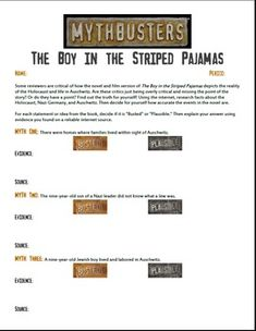 the boy in the striped pyjamas ks prose key stage  mythbusters the boy in the striped pajamas