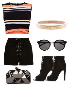 """Untitled #571"" by hannahjoyjacob on Polyvore featuring River Island, Ted Baker, Yves Saint Laurent, WithChic, Chanel, women's clothing, women, female, woman and misses"
