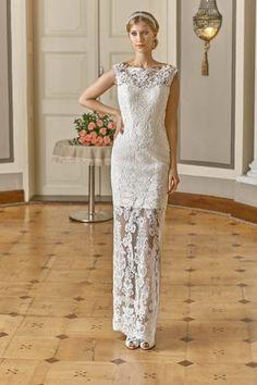 9432275d951b Meraviglioso vestito da sposa trasparente per matrimonio civile o seconde  nozze
