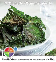 Kale Chips #veggies #myplate #myplatebirthday