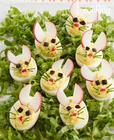 Set the tone of your Easter feast with these cute and easy appetizers. Tap or click photo for this Easy Bunny Devilled Eggs Set the tone of your Easter feast with these cute and easy appetizers. Tap or click photo for this Easy Bunny Devilled Eggs