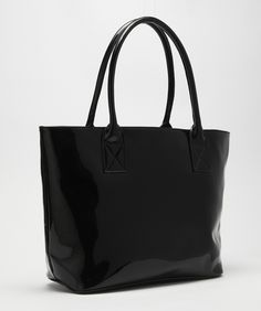 Kitty Tote - Black Patent leather handbag by Kitty & Co