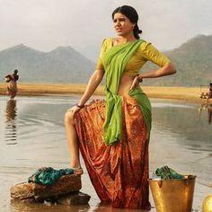 Ram Charan and Samantha Ruth Telugu Movie Rangasthalam- First Look Poster Indian Bollywood, Indian Sarees, Bollywood Actress, Samantha Ruth, Samantha Photos, Village Girl, Girl Artist, India Beauty, Indian Girls