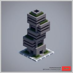 Shared by MCNoodlor. Minecraft Building Guide, Minecraft Plans, Minecraft City, Minecraft Construction, Minecraft Tutorial, Minecraft Blueprints, Minecraft Crafts, Minecraft Buildings, Minecraft Statues