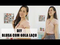 Corte e costura - como fazer vestido com manga copinho e amarração estilo lace up | Ellen Borges - YouTube