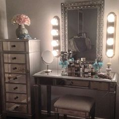 "A Hollywood Glam vanity and make-up lighting ""I'm ready for my close-up, Mr. De Mille."" ---Norma Desmond, Sunset Blvd."