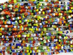 Small African Christmas Beads available at happymangobeads.com
