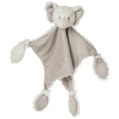 This gender neutral elephant is the centerpiece of this 13″ x 13″ character blanket featuring corners tied into knotted limbs.  Shop now at: www.bestboutiqueever.com