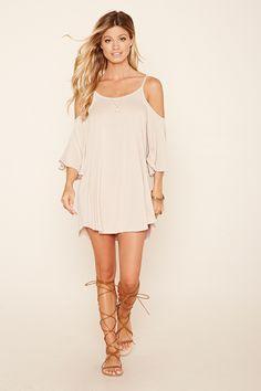 Open-Shoulder Mini Dress | Forever 21 - 2000220768